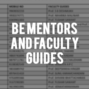 BE Mentors and Faculty Guides