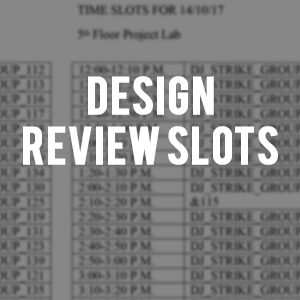 Design Review Slots